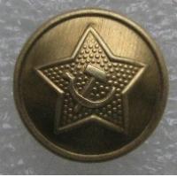 Пуговица погонная РККА образца 1943 года (18 мм), латунная, СССР, копия