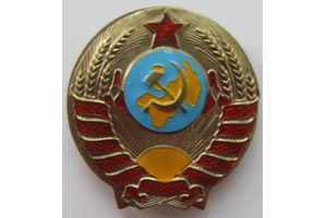 Нарукавный знак нач. состава милиции (РКМ) образца 1939 года, СССР, копия