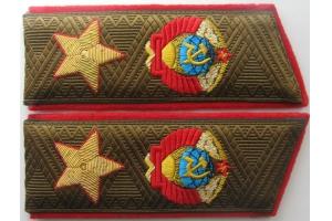 Погоны на повседневную форму одежды Маршала Советского Союза, образца 1974 года, копия