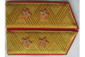 Погоны общевойсковые генерал-лейтенанта, образца 1969 года, СССР, копия