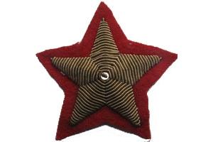 Пара нарукавных звезд Маршала Советского Союза образца 1940 года , копия