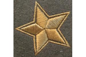Пара нарукавных звезд полевая ком состава пехоты,РККА, образца 1940 года, копия
