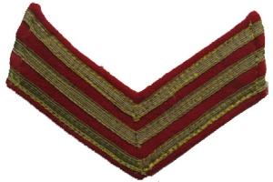 Пара нарукавных знаков командного состава РККА/НКВД ( старший лейтенант ) образца 1940 года, копия