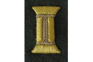 Пара золотистых катушек для обшлагов рукава парадного мундира, младших или старших офицеров КА, СССР, копия