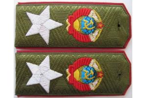 Полевые погоны Маршала Советского Союза образца 1943 года, звезда шитая канителью, копия