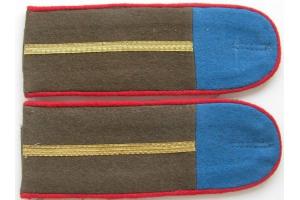 Погоны младшего офицерского состава  Тувинской Народно-Революционной Армии образца 1943 года, копия
