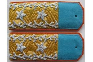 Повседневные погоны генерал-лейтенанта Тувинской Народно-Революционной Армии образца 1943 года, копия