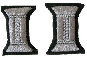 Пара серебристых катушек для обшлагов рукава парадного мундира, младших или старших офицеров КА, СССР, копия