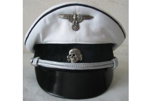Фуражка летняя офицера Альгемайне СС с кокардами, (Германия), Копия